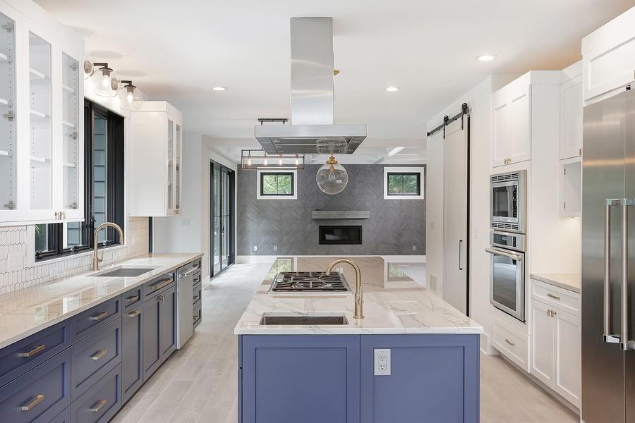 Blue and White Custom Kitchen