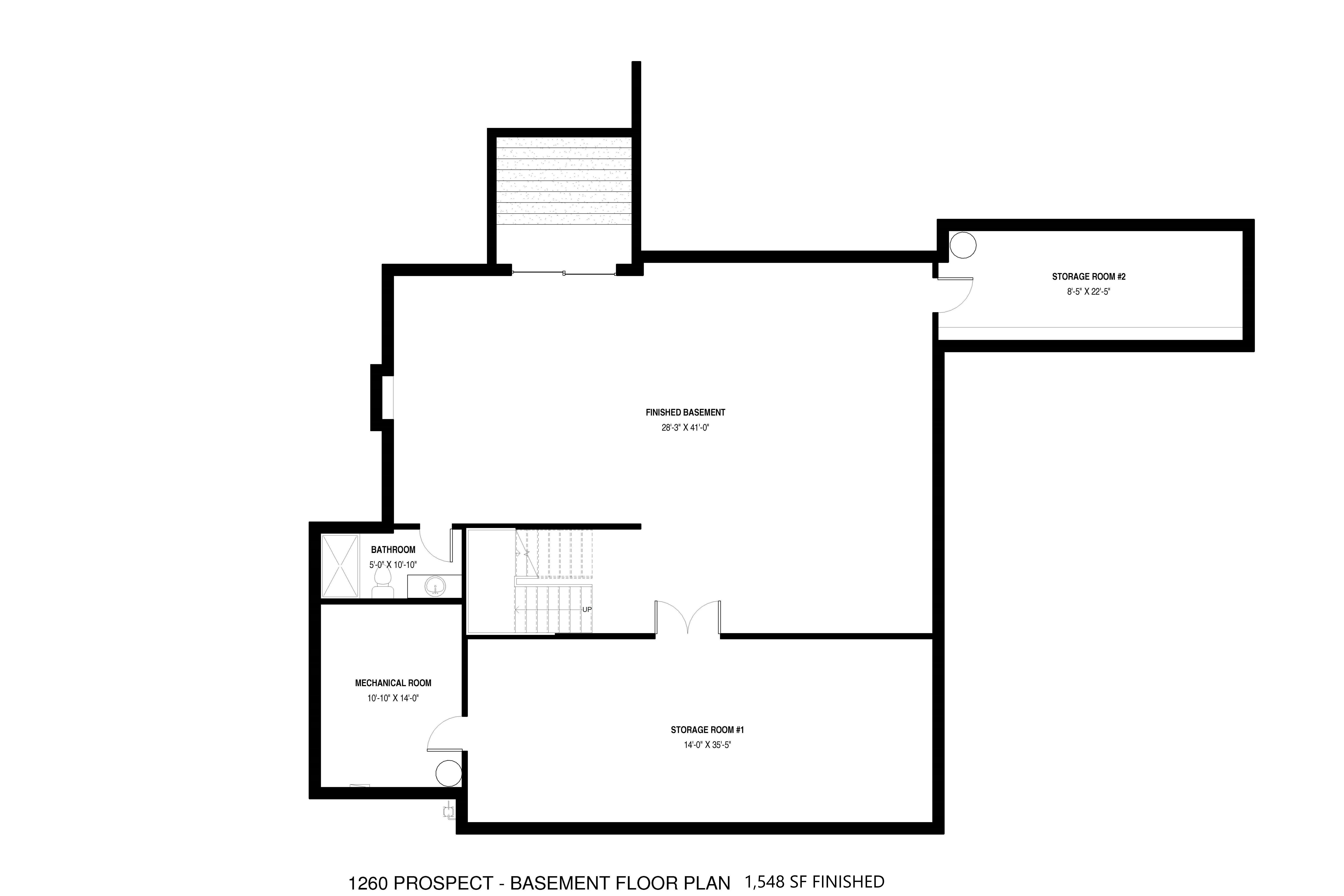 Finished Basement Floor Plan