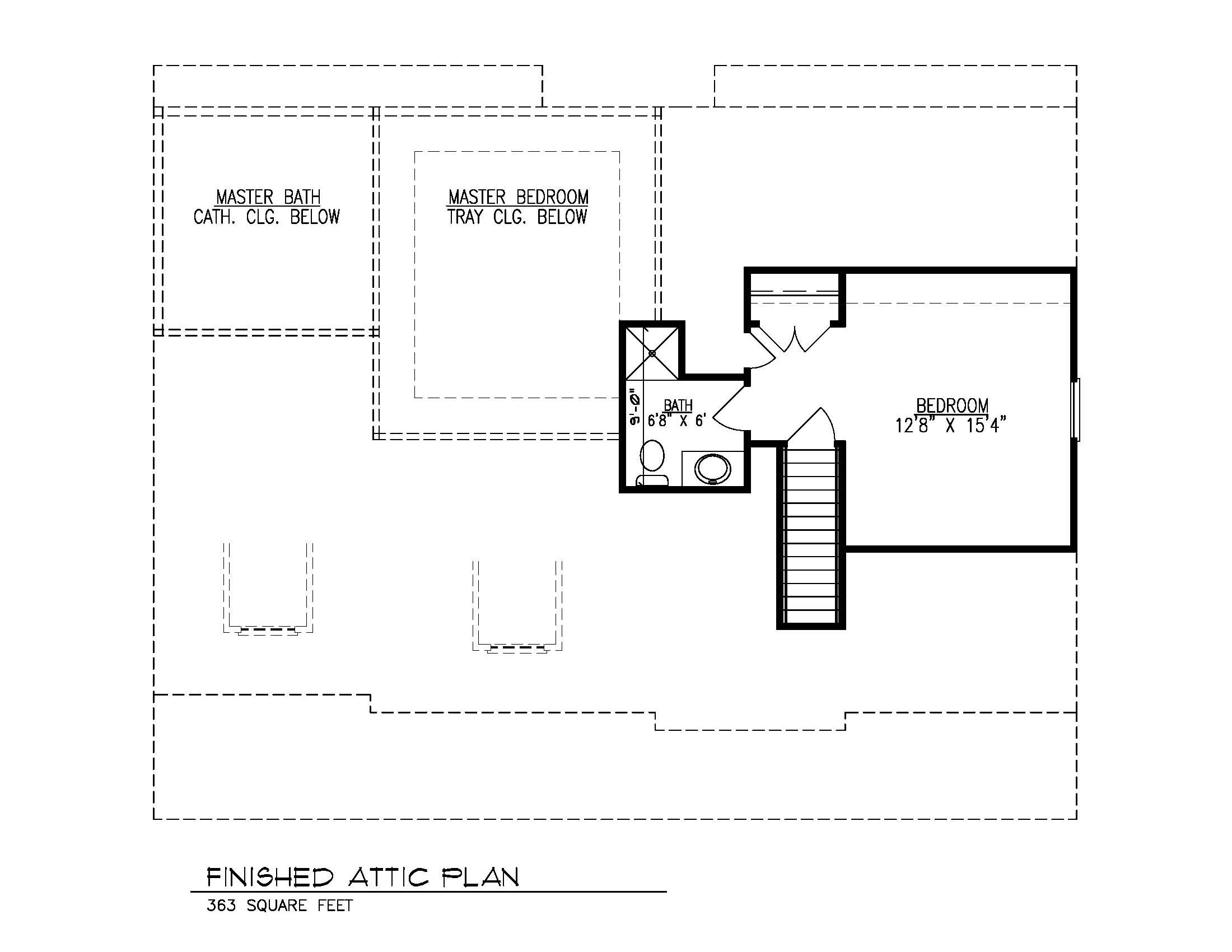 Finished Attic Floor Plan