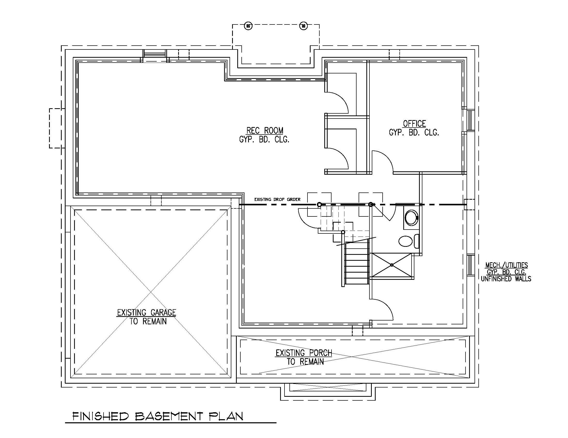 Finished Basement Floor Plan