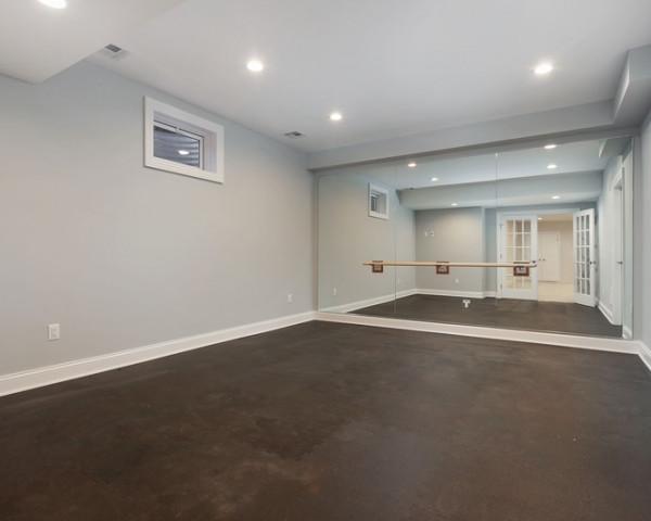 Finished Basement Gym Room