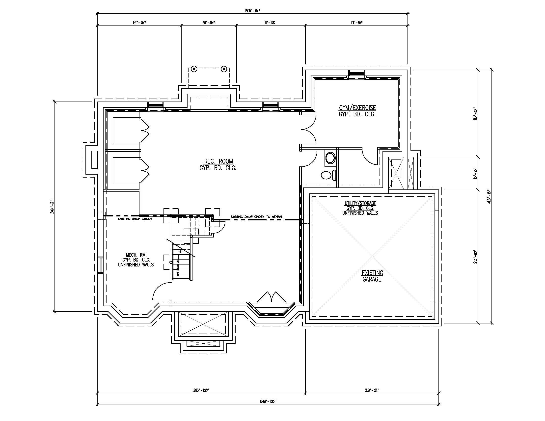 Finished Basement Plan