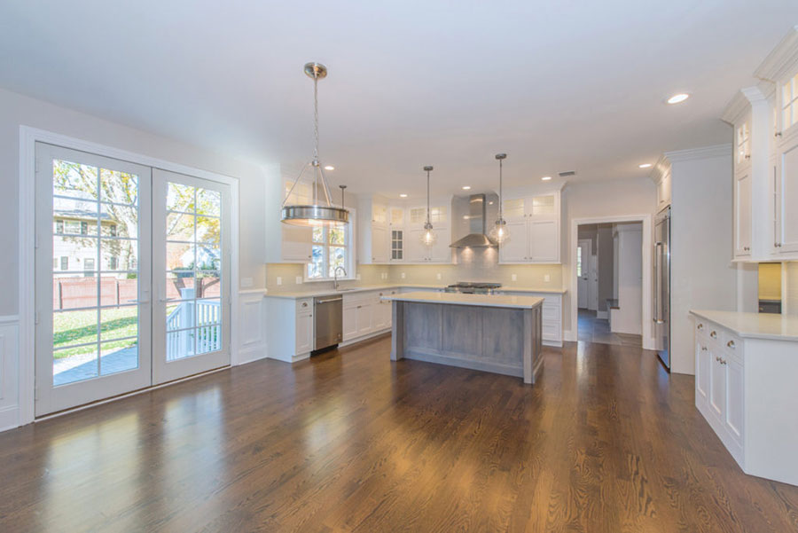The kitchen of a custom home by Premier Designs Custom Homes LLC.