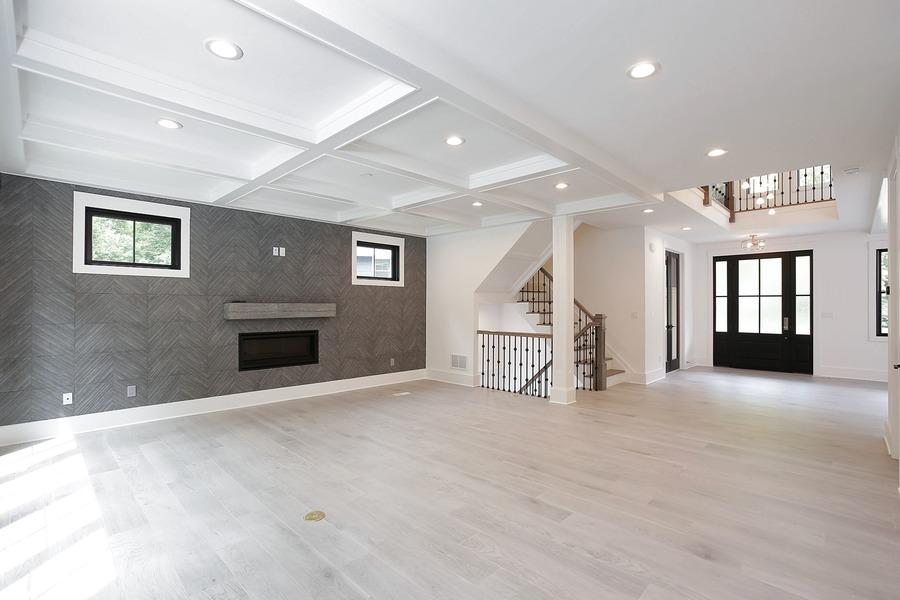 Custom built home family room in NJ