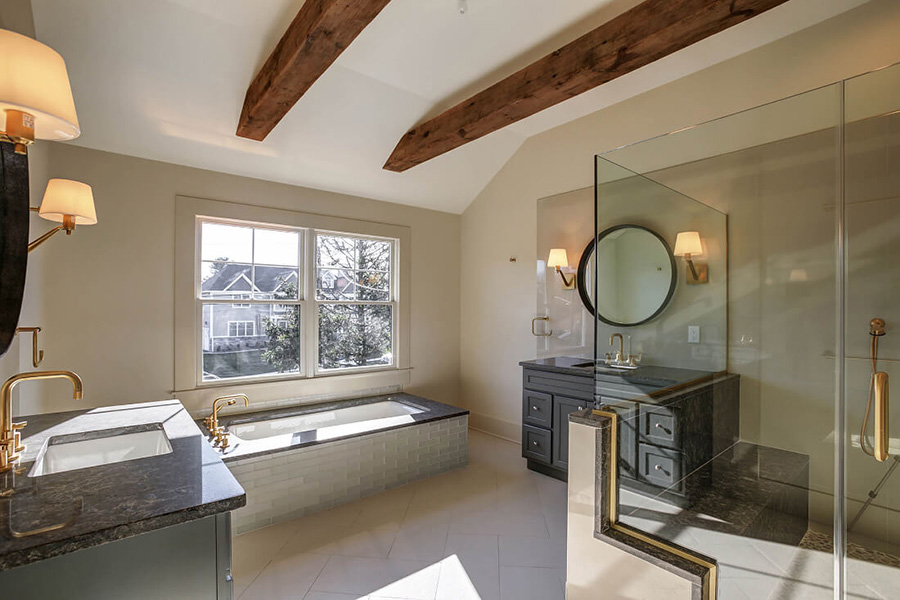 The bathroom of a custom built home in NJ