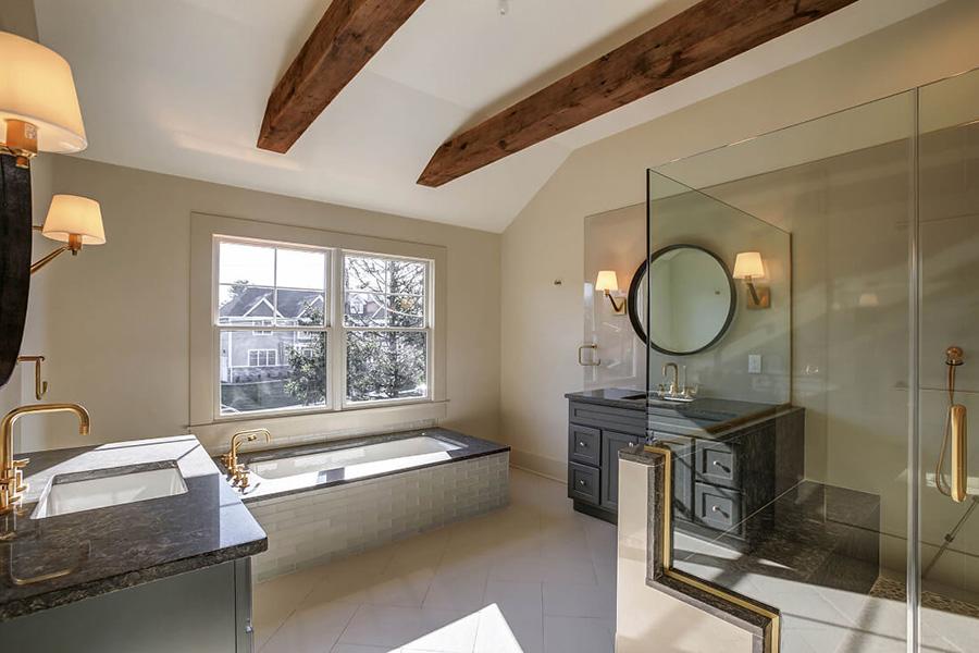 The bathroom of a custom built home in NJ
