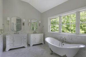 Master Bath of an August 2019 Project by Premier Design Custom Homes NJ