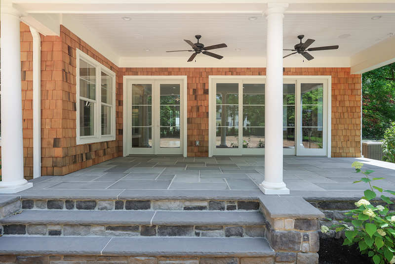 blending exterior and interior premier design custom homes westfield nj