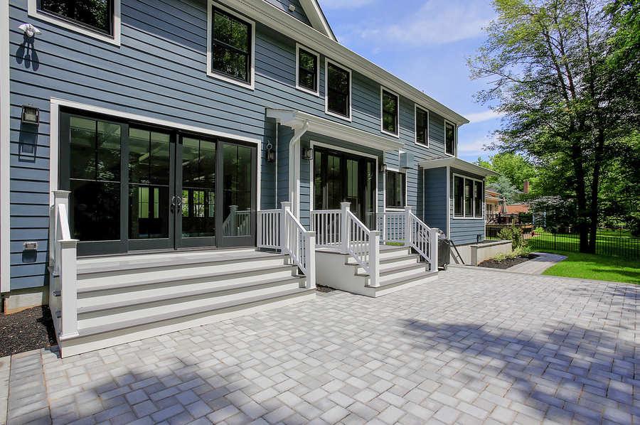 blending interior and exterior premier design custom homes westfield nj