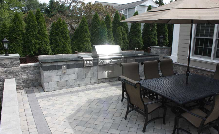 outdoor kitchen nj custom home build patio premier design custom homes