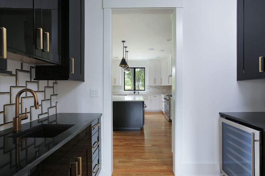 premier design custom homes kitchen with butlers pantry